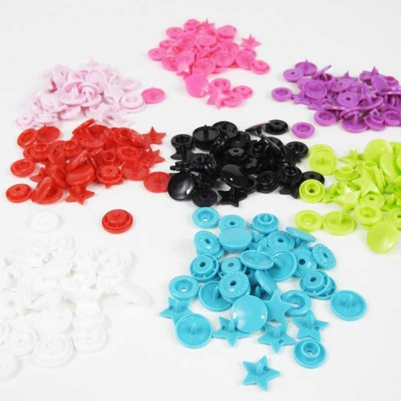 Snaps con forma de estrella de colores