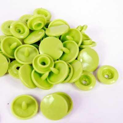 snaps redondos T5 verde lima