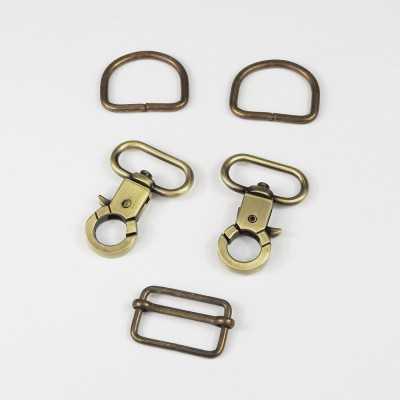 Pack cierres de metal D 25mm oro viejo