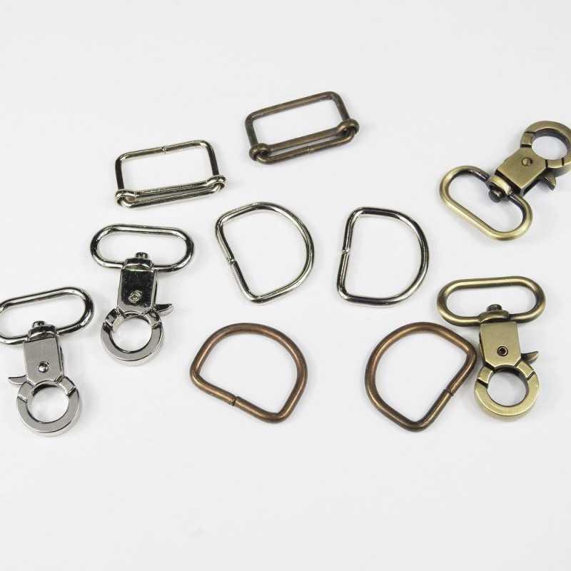 Pack cierres de metal D 25mm