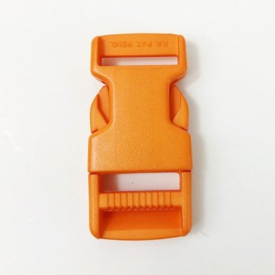Cierre de plastico 25mm naranja