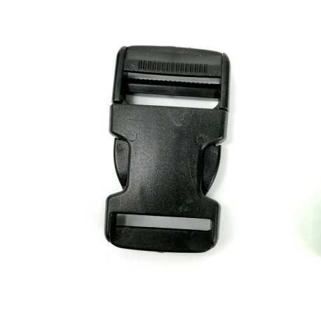Cierre de plastico 25mm negro