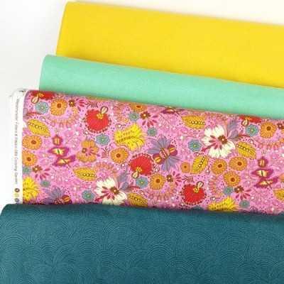 combinación de telas de patchwork