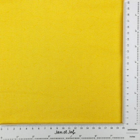 tela sashiko amarilla