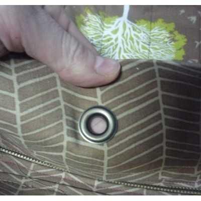 Como colocar una arandela en un bolso