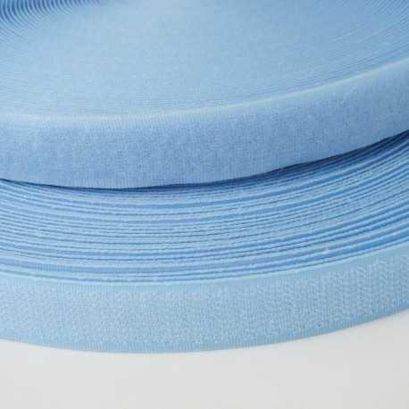 Velcro de coser azul celeste