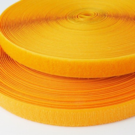 Velcro de coser amarillo