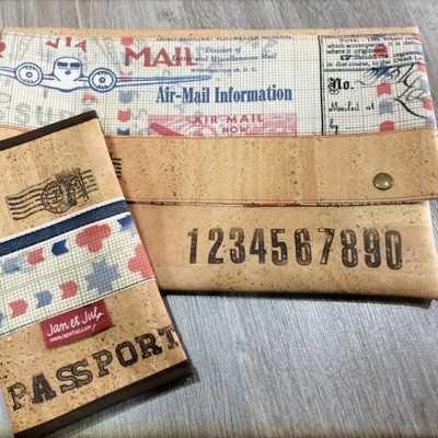 Porta documentos y funda de pasaporte DIY
