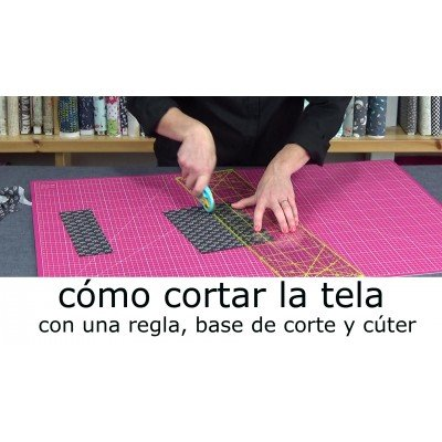 Video tutorial para cortar bien las telas de patchwork y costura creativa