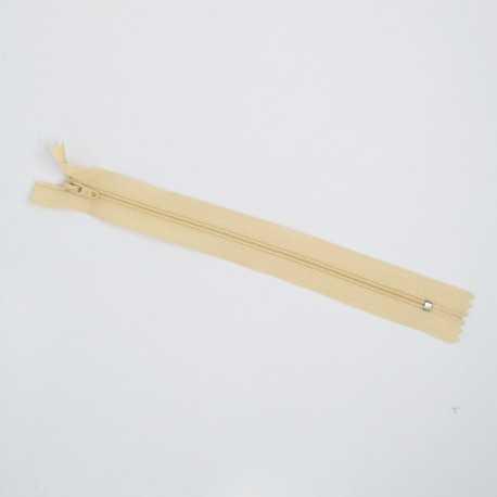 Cremallera beige de 20 cm