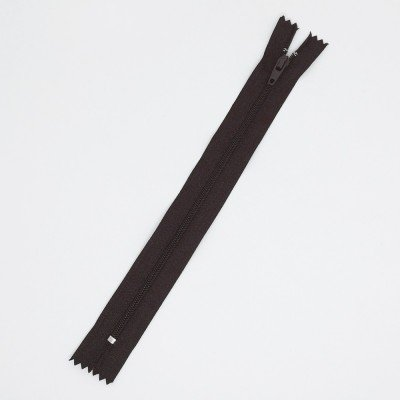 Cremallera marrón de 20 cm