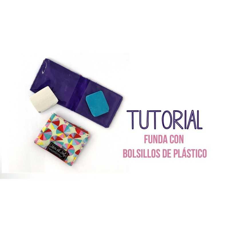 Vídeo tutorial para aprender a coser una funda para tizas con plástico transparente