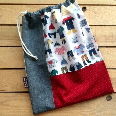 Patrón bolsa de ropa de recambio para guardería