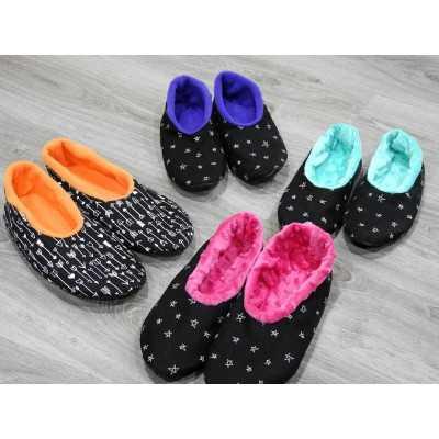 Patrón para coser zapatillas de invierno diy