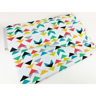 into the woods triangles fabric