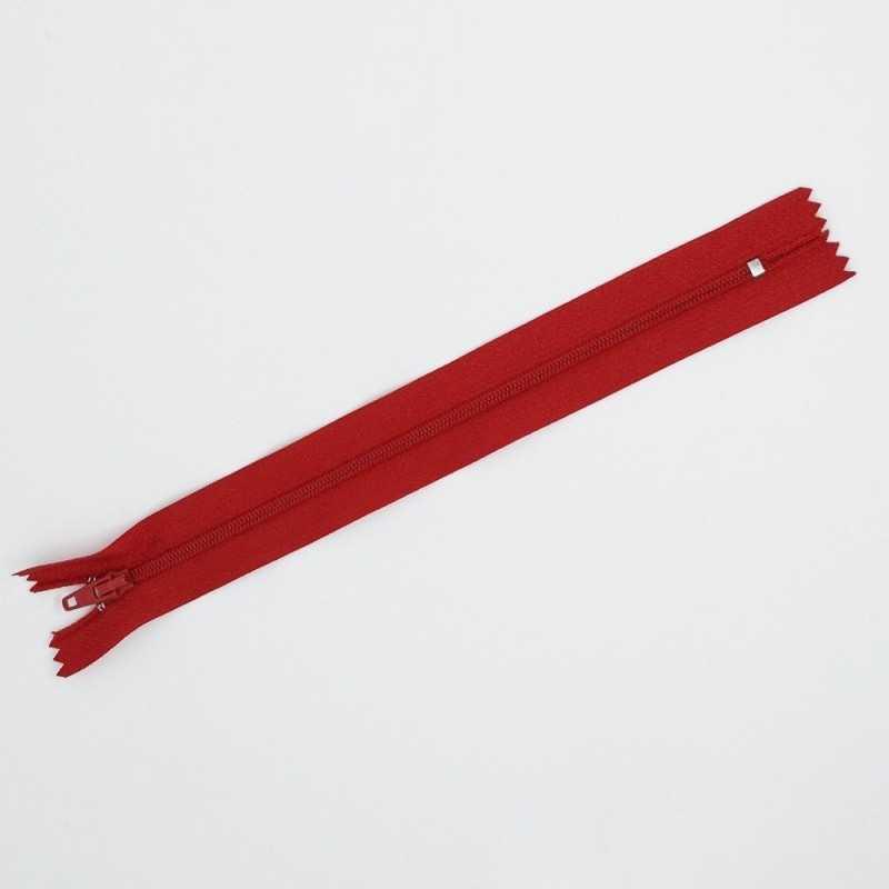 Cremallera roja de 25 cm