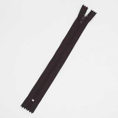 Cremallera marrón de 25 cm