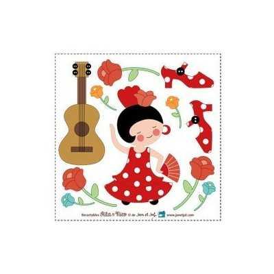 aplicación termoadhesiva sevillana  o flamenca