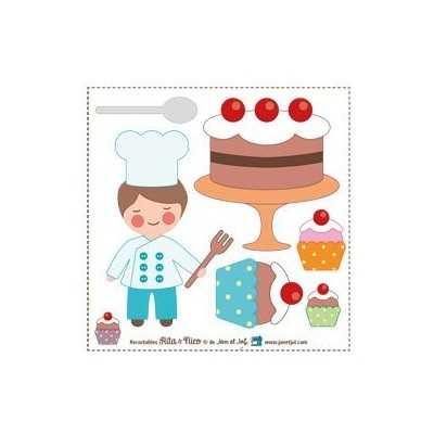 aplicación termoadhesiva cocinero