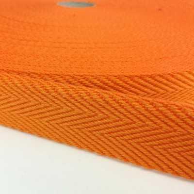 Cinta de algodón con dibujo de espiga de 30mm. color naranja