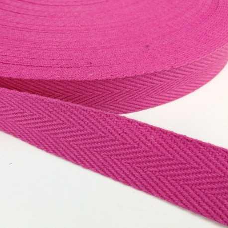 Cinta de algodón con dibujo de espiga de 30mm. color rosa