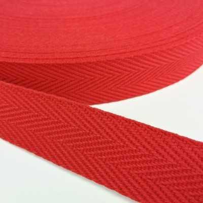Cinta de algodón con dibujo de espiga de 30mm. color rojo