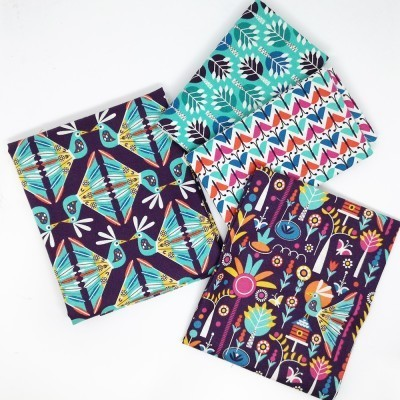 Pack 4 Fat Quarters de telas preciosas