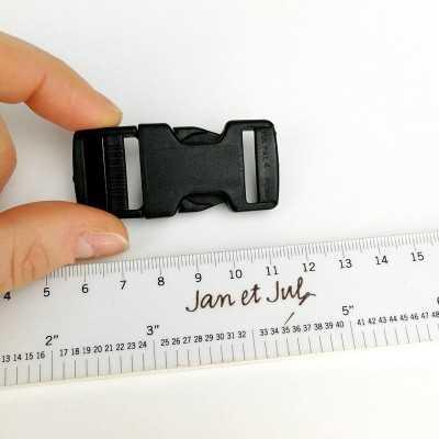 Cierre plástico 20mm en color negro