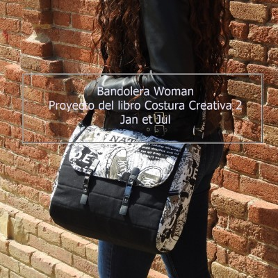 Bandolera Woman del libro Costura Creativa 2 con cierre de piel largo