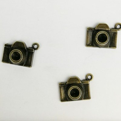 Charm cámara de fotos en bronce