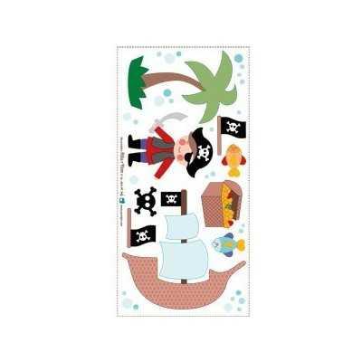 aplicación termoadhesiva con temática de piratas