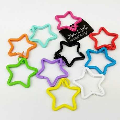 Anilla en forma de estrella de colores