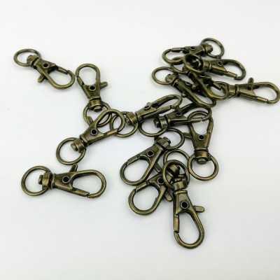 Mosquetón oro cordón  - 2