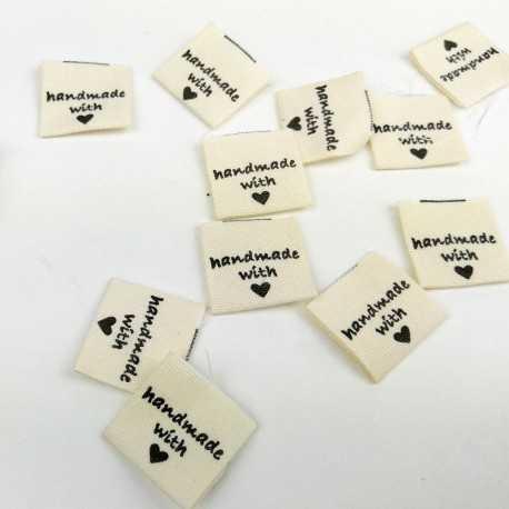 Etiquetas handmade de algodón
