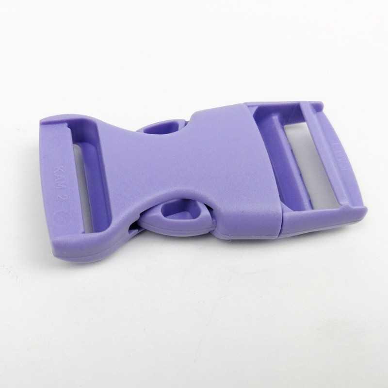 cierre plástico lila de 2 cm