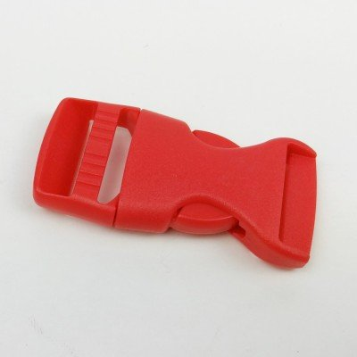 cierre plástico rojo de 20mm