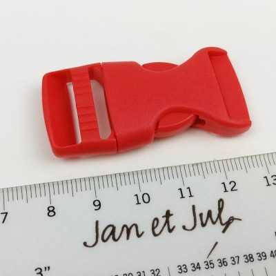 cierre plástico lila rojo de 2 cm