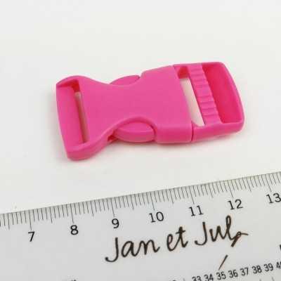 cierre plástico fucsia de 2 cm