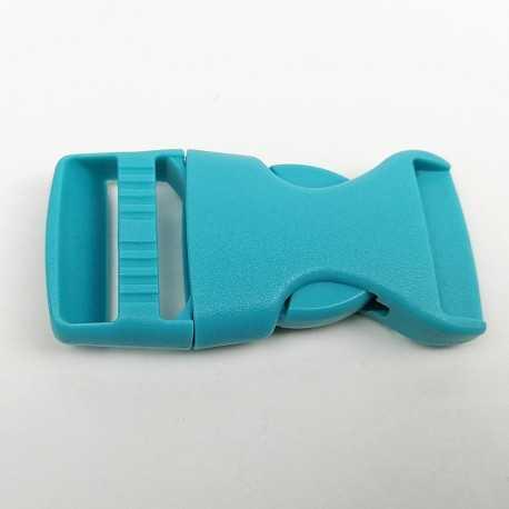 cierre plástico turquesa de 2 cm