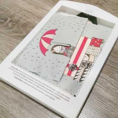 Kit para coser un neceser color gris