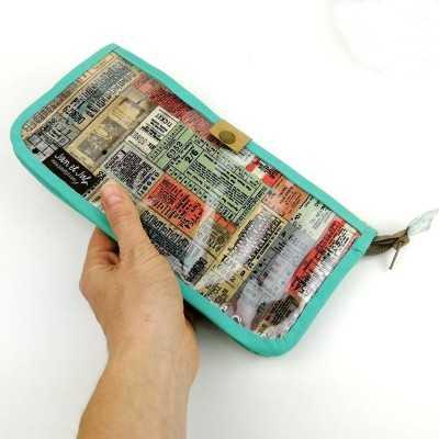 patron para coser un Porta documentos para viajes