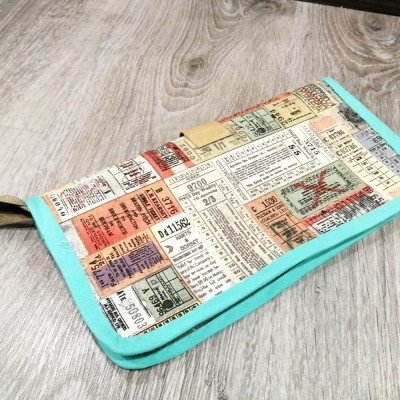 aprende a coser un Porta documentos para viaje