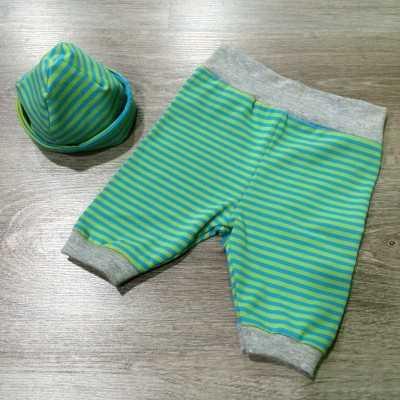 Pantalón y gorro de recién nacido diy