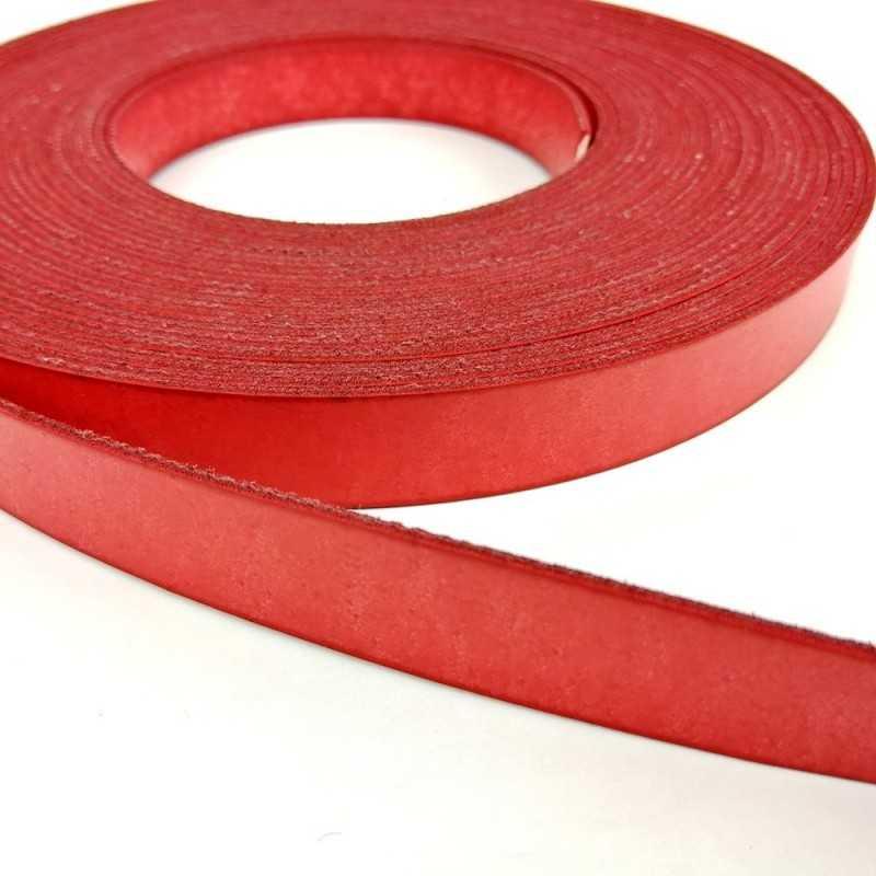 Asa piel sintética 15mm color rojo