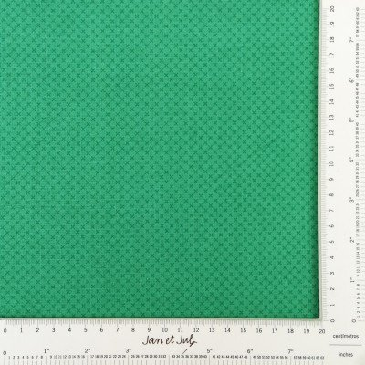 tela verde con cruces mini