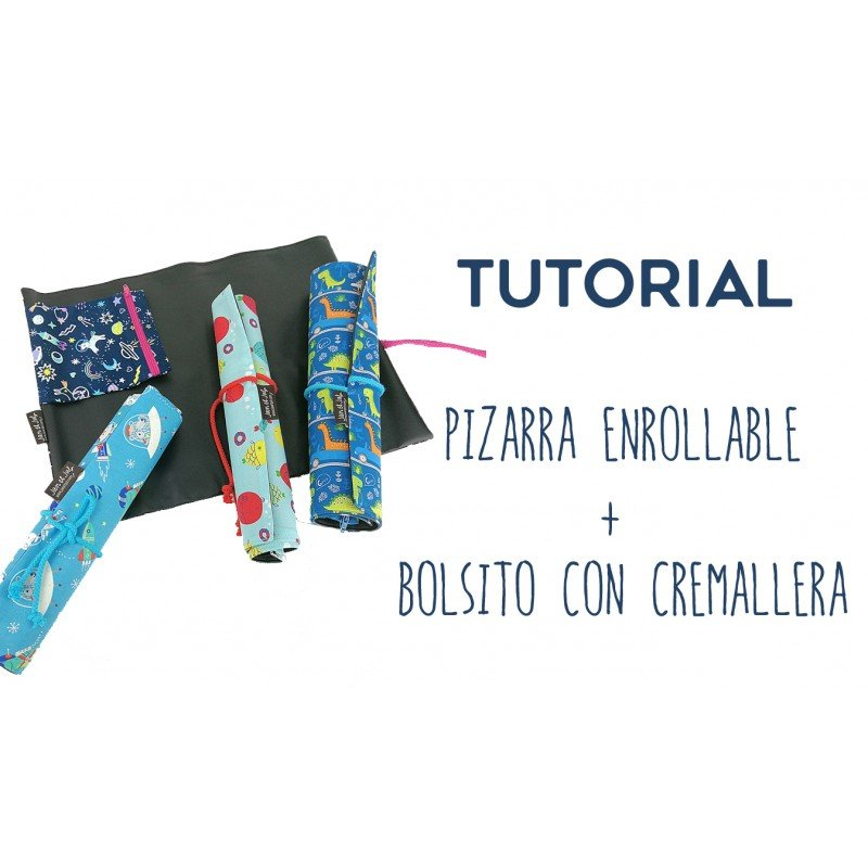 Video tutorial para aprender como coser una pizarra portátil y enrollable