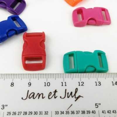 cierre plástico de colores para correas de mascotas pequeñas