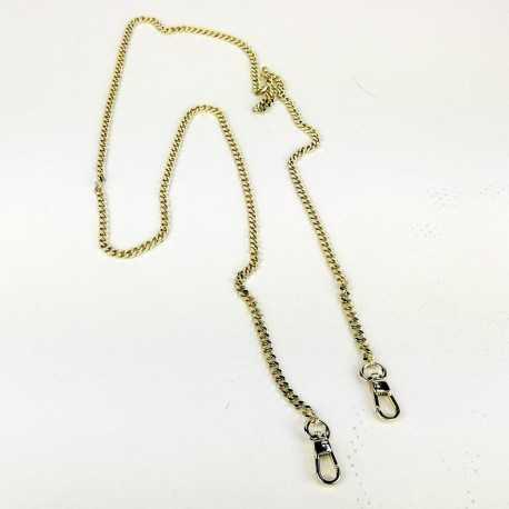cadena metal color oro con mosqueton