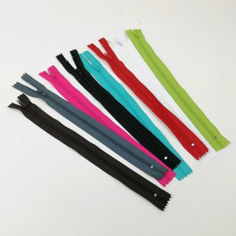 Cremalleras de colores de 25 cm