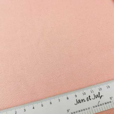 tela sashiko de color rosa